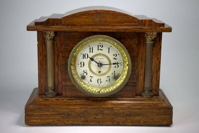 Antique Seth Thomas Adamantine 8 Day, half and hour strike, Mantle Shelf Clock