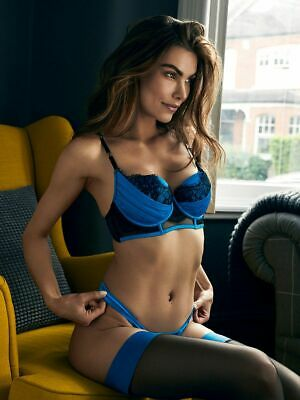 Ann Summers Womens Adalicia Balcony Bra Satin Padded Sexy Lingerie Underwear
