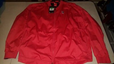 BRAND NEW! Nike Women's Court Tennis Bomber Jacket Size XL Red $130 MSRP
