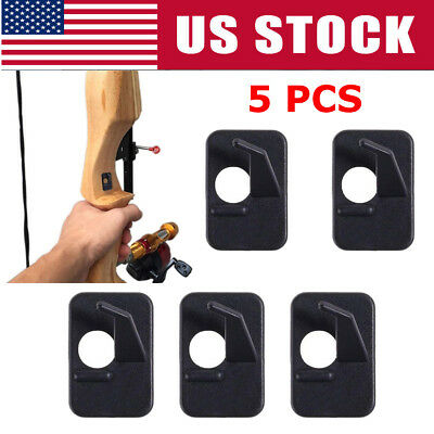 5Pcs Hunting Shooting Archery Recurve Bow Plastic Adhesive Arrow Rest Right Hand