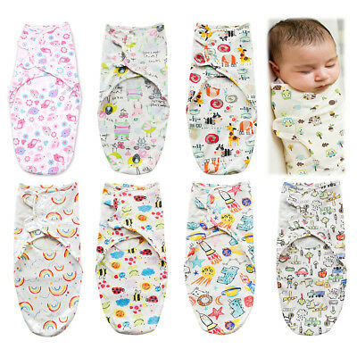 Adjustable Infant Baby Wrap Bedding Swaddle Blanket Newborn Cotton Sleeping Bag