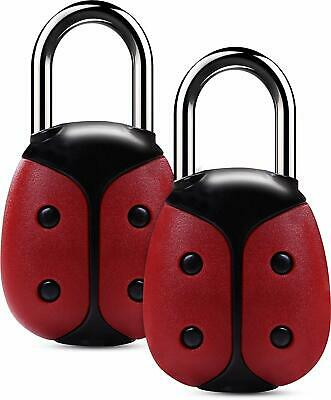 Set of 2 Luggage Lock with Keys Zinc Alloy Steel Shackle by Utopia Home