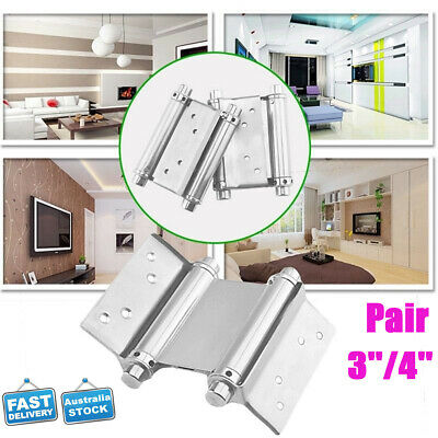 """Pair Stainless Steel Double Action Spring Hinge Saloon Cafe Door Swing 3"""" 4""""Inch"""