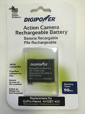 DigiPower Rechargeable battery for GoPro HERO4 - AHDBT-401