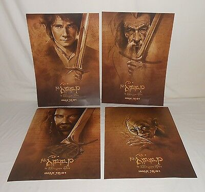 4 Exclusive IMAX 12:01 12-14-12 The Hobbit; The Unexpected Journey Movie Posters