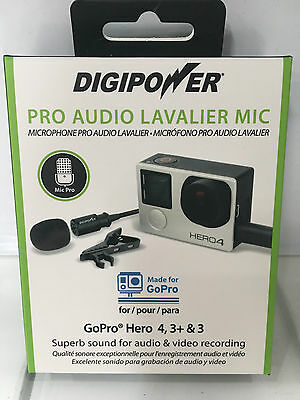 DigiPower Pro Audio Lavalier Mic - Made for GoPro