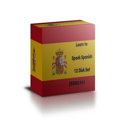 Learn to speak SPANISH - Complete Language Training Course on 12 AUDIO CDs