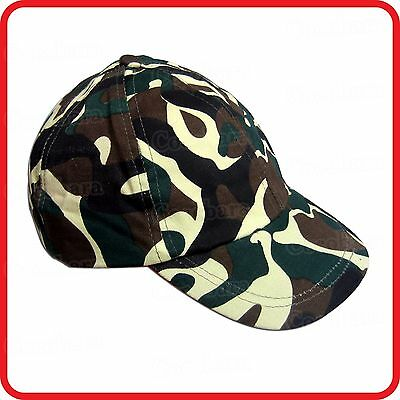 Kids Childrens Camo Camouflage Army Military Soldier Baseball Cap Hat