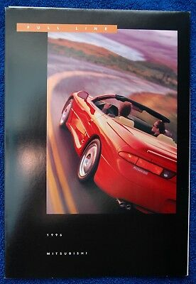 Original 1996 Mitsubishi Full Line Sales Brochure Catalog / Fold-Out Poster