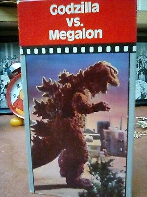 Godzilla vs. Megalon. video treasures. vhs