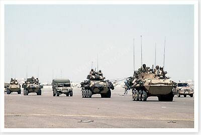 1st Armored Division M-1A1 Abrams Tank Northern Kuwait Desert Storm 8x12 Photo