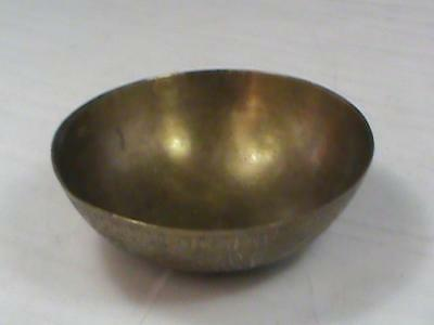 Antique Brass Finger Bowl with 7 Etched Faces Middle Eastern Stunning Detail