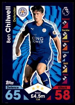 Match Attax 2016-2017 Ben Chilwell Leicester City Base card No. 134
