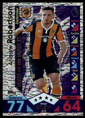 Match Attax 2016-2017 Andrew Robertson Hull City Man of the Match No. 415