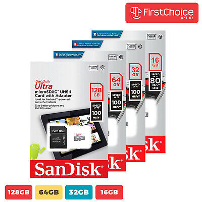 SanDisk Ultra 16GB 32GB 64GB  Micro SD C10 SDHC Flash Memory TF Card