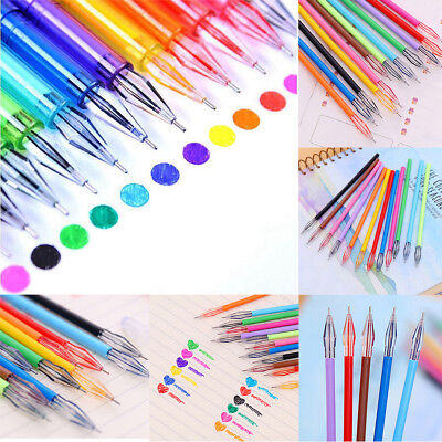 12Pcs Candy Color Diamond Gel Pen School Supplies Draw Colored Pens School Gift