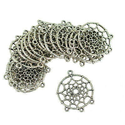 10Pairs Dream Catcher Charm Pendants Connector 4Holes for DIY Jewelry Making