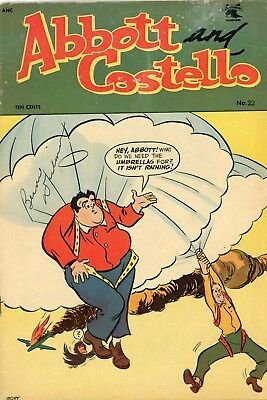Abbott and Costello number 22 1953 St John Publishing Fine Condition