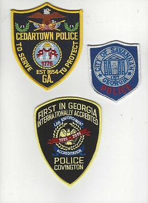 Set of 3 Georgia Police Patches
