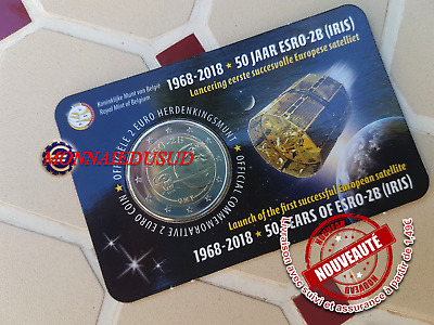 2 Euro CC Coincard BU Belgique 2018 - Satellite ESRO Version Flamande NL