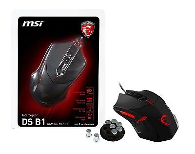 MSI USB Optical Gaming Mouse with Ergonomic Design & Weight System (Interceptor
