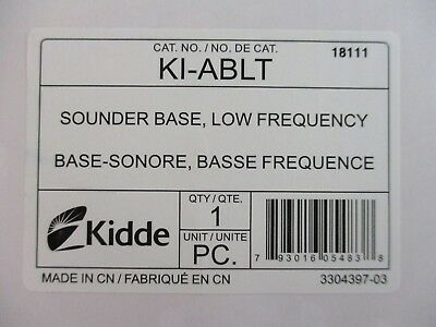 (New)Kidde Ki-Ablt - Low Frequency Audible Sounder Base For Co And Fire Detector