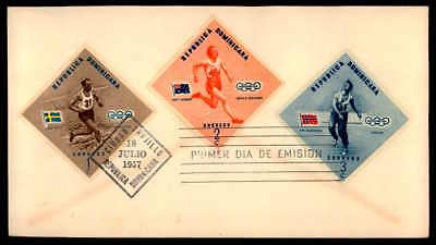 DOMINICA FDC 1957 SPORT SPORTS OLYMPICS 1956 MELBURNE OLYMPIA ap65