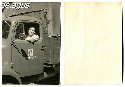 """Vintage Photo circa 1960s Man on Truck , """"Wuppertal-E.""""-Advertising"""