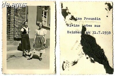 Vintage Photo from 1938 two young women - Heimbach