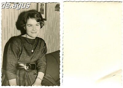 Vintage Photo circa 1960s smiling young woman
