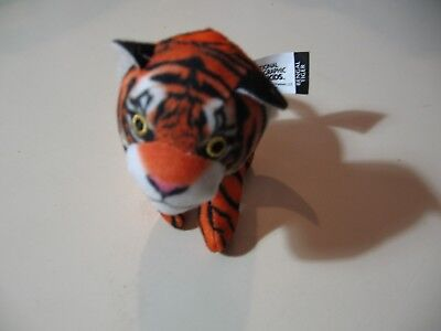 """4"""" plush Bengal Tiger doll, made by National Geographic Kids, good condition"""