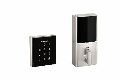 Kwikset 99530-001 Obsidian Electronic Touchscreen Keyless Deadbolt, Satin Nickel