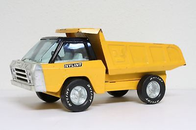 Vintage Nylint 1960's 1970's Yellow Dump Truck Ford Toy USA MADE Pressed Steel