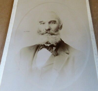 19th Century Picture Man with Moustache  - Cabinet Card by Rand, New Haven, CT