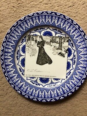 Antique Royal Doulton-Flo Blue Gibson Girls Plate - 1900