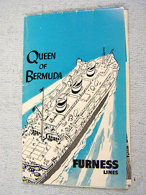 1955 Furness Cruise Lines QUEEN OF BERMUDA Folder