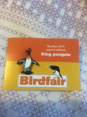 Not RSPB Pin Badge Birdfair 2014 Special Edition King Penguin