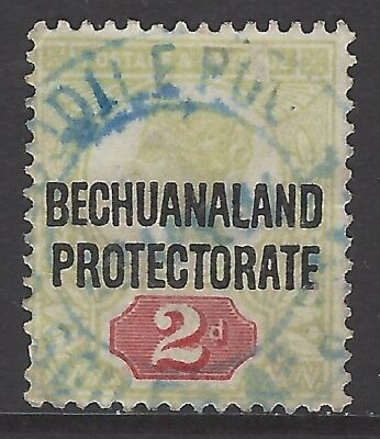 BECHUANALAND POSTMARK 'CROCODILE POOLS' CDS cancel in blue on early stamp