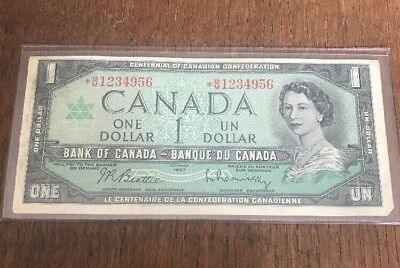Bank Of Canada 1967 $1 One Dollar Bill Replacement Note Circulated * B/M C127