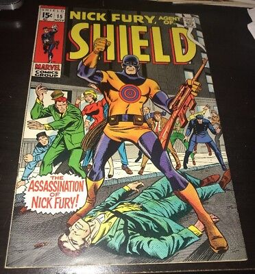 Nick Fury, Agent of SHIELD #15 FN+ 1st App Bullseye Daredevil Netflix TV Show