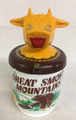 Vintage Whirley Cow Moo Cow Sippy Mug Cup Souvenir Smoky Mountains