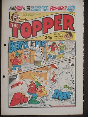 The Topper Comic 5th  December 1987 (Issue 1818)