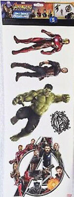 AVENGERS INFINITY WAR wall sticker 5 Marvel decals superhero Black Panther Hulk