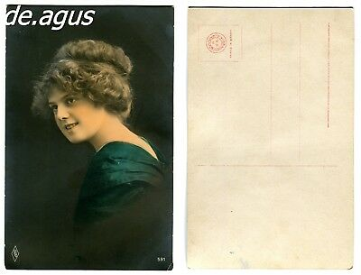 Vintage Postcard from amazing young woman portrait
