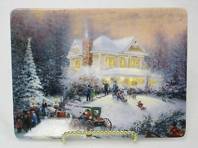 Thomas Kinkade Home for the Holidays Plate Tray 1997 3rd Issue Holiday Memories