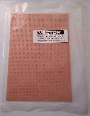 "4.5"" W x 6.5"" L  Vectorboard 64p44xxxp Punchboard perfboard no soldiering pads"