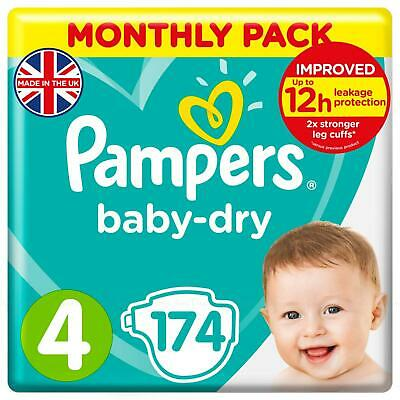Pampers Baby Dry Air Channels Nappy 8-14Kg Maxi Size 4 - Giga Pack 120 Nappies
