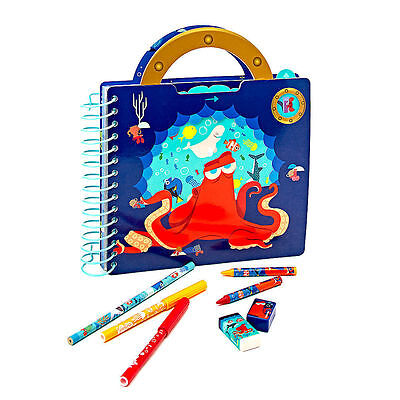 NEW Disney Store Finding Dory Fun on the Run Art Pack Marker Pencil Set Case