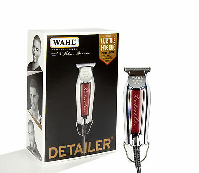 Wahl Professional Series Detailer #8081 - With Adjustable T-Blade, 3 Trimming Gu
