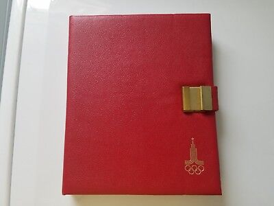 1980 Moscow Russia Olympic Silver Proof Coin Set 28 Coins